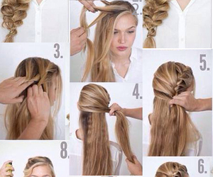 hair, hairstyle, and step by step image