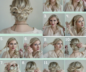 hair, hairstyle, and hair fashion image