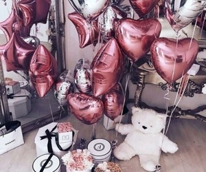 balloons, beautiful, and flowers image