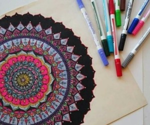 colors, cool, and zentangle image