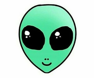 alien, overlay, and cute image
