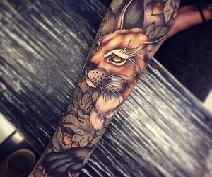 tattoo, Tattoos, and cat tattoos image