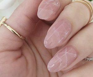 girly, nails, and pink image
