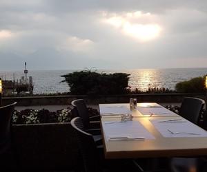 beautiful, relax, and sun set image
