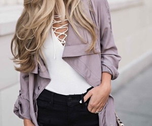 chic, hair, and style image