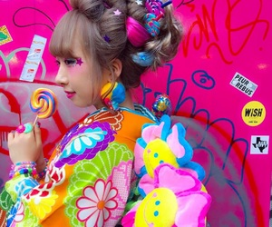 colourful, girl, and Harajuku image