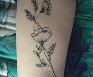 beautiful, draw, and flower image