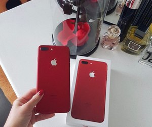 iphone, red, and flowers image