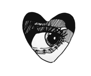 heart, tumblr, and drawing image