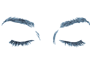 black, draw, and eyelashes image