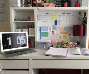 book, books, and desk image