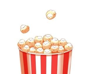 fun, night, and popcorn image