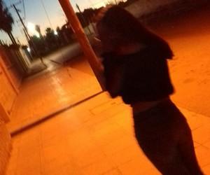 body, night, and orange image