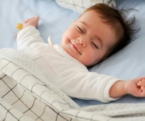 baby, smile, and sleeping image