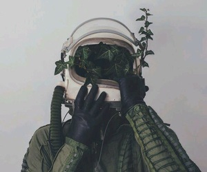 astronaut, plant, and tumblr image