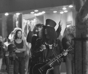 Guns N Roses, slash, and black and white image