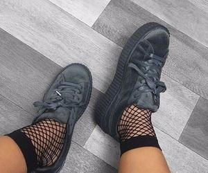 puma, shoes, and grey image