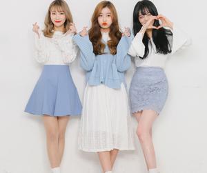 blue, dress, and korean fashion image