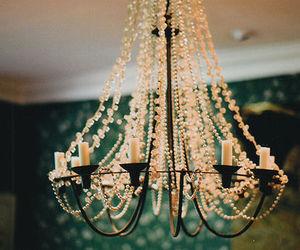 vintage, chandelier, and light image