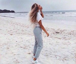 girl, beach, and fashion image
