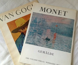 art, van gogh, and monet image