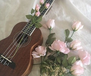 flowers, aesthetic, and music image