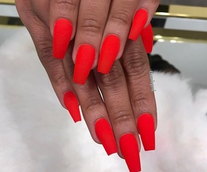 acrylics, nails, and red image