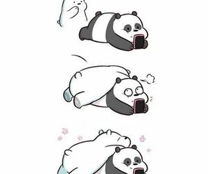 panda, polar, and cute image