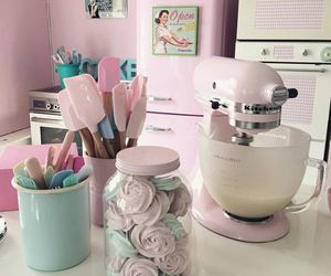 bake, kitchen, and cute image