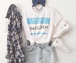 fashion, outfit, and unicorn image