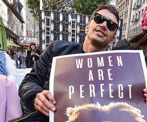 james franco, women's march, and pussy hat image