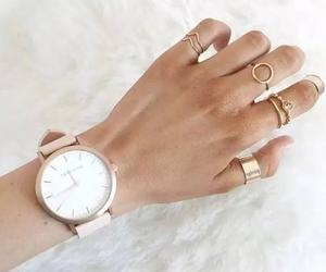 accessories, rings, and watch image
