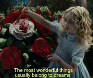 alice in wonderland, quotes, and rose image