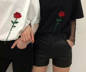 fashion, rose, and aesthetic image