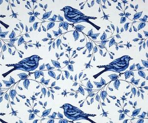blue, passarinhos, and patterns image