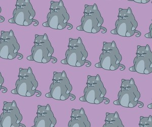 cats, pattern, and purple image