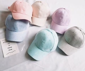 fashion, pastel, and cap image