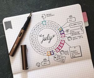 drawing and bullet journal image