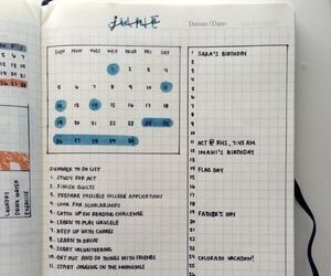 school, book, and bullet journal image