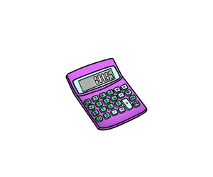 aesthetic, calculator, and colors image