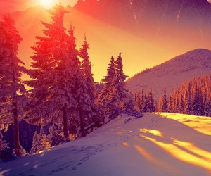 snow and mountain image