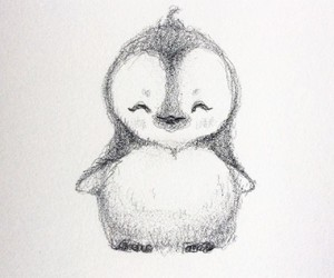 art, draw, and penguin image