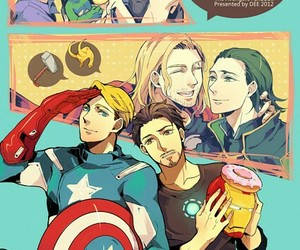 iron man, stony, and thorki image