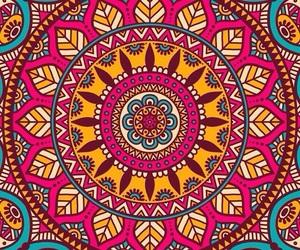 mandala, wallpaper, and colors image