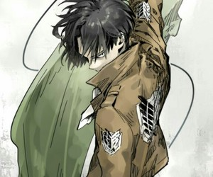 shingeki no kyojin, levi, and anime image
