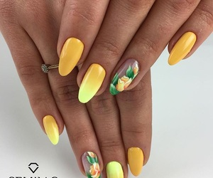 art, flower, and nails image