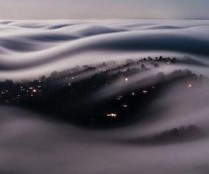 fog, night, and city image