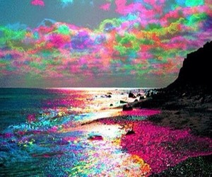 colors, beach, and colorful image
