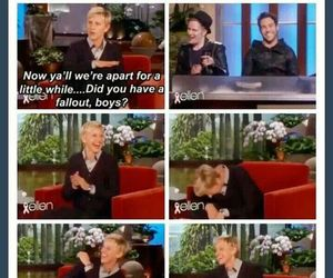 funny, ellen, and fall out boy image