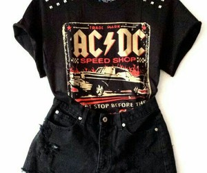 outfit, black, and ac dc image